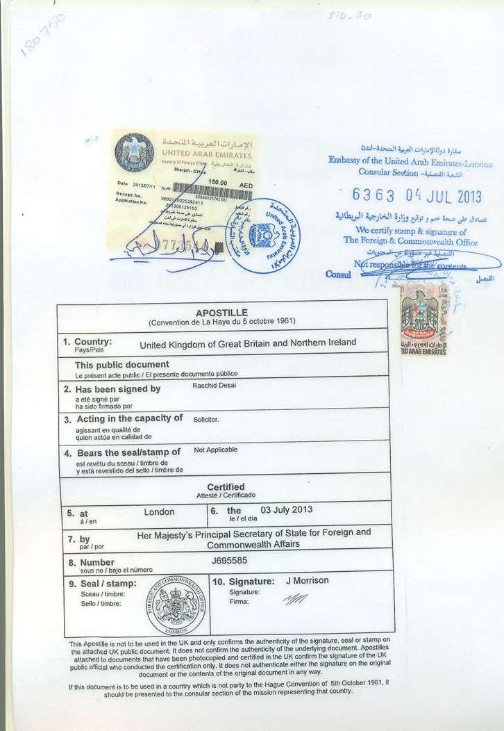 Certificate Attestation service   Attestation from UAE